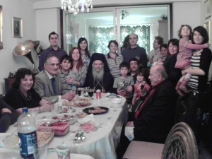 Archbishop Gregorios with the community